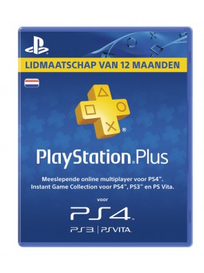 Playstation Plus - 12 Month Subscription (Netherlands)