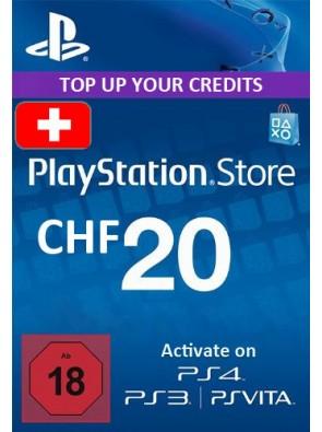 PlayStation Network (PSN) Card - 20 CHF (Switzerland)