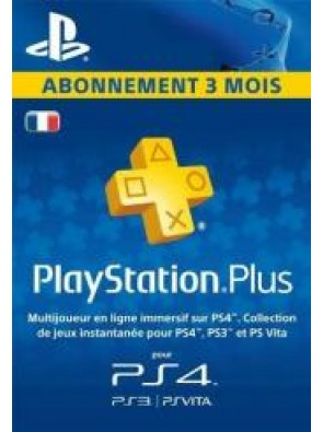 PlayStation Plus (PS+) - 3 Month Subscription (France)
