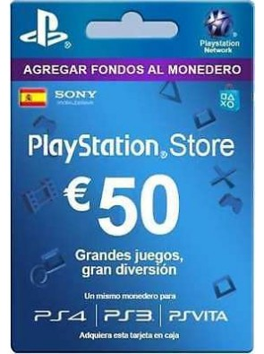 PlayStation Network (PSN) Card - 50 EUR (Spain)