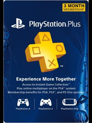 3 Month Playstation Plus Membership - PS3/ PS4/ PS Vita Digital Code (USA)