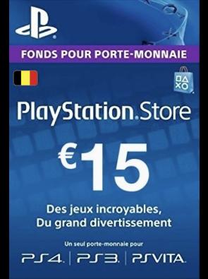 PlayStation Network (PSN) Card - 15 EUR (Belgium)