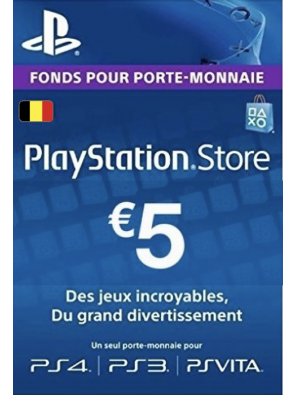 PlayStation Network (PSN) Card - 5 EUR (Belgium)