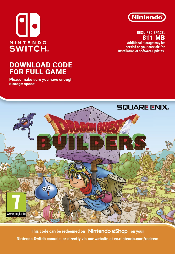 Dragon Quest Builders Nintendo Switch Primary License
