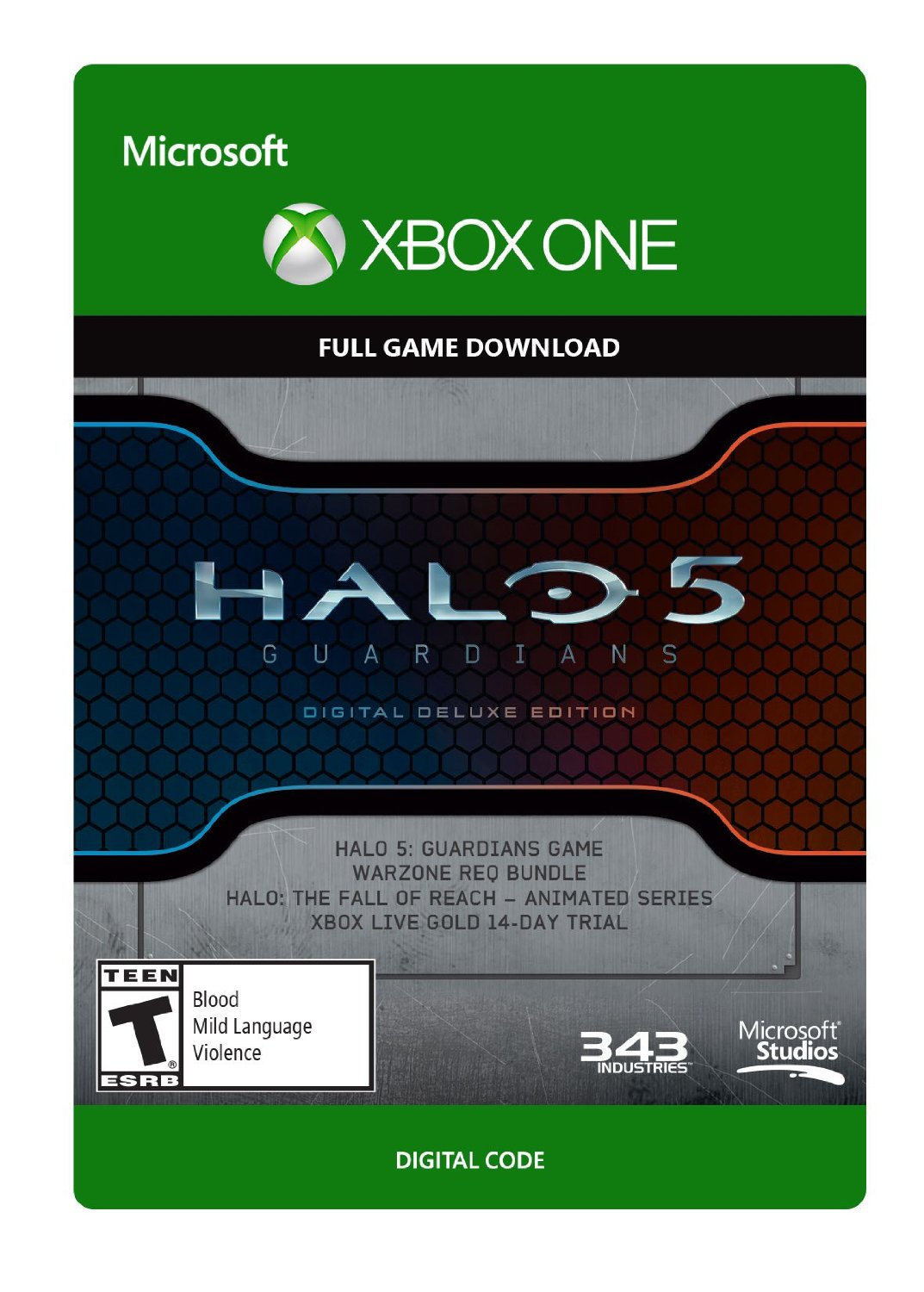 Halo 5 Guardians Digital Deluxe Edition Xbox One