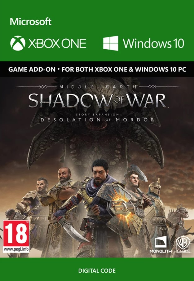 Middle-Earth Shadow of War - The Desolation of Mordor Expansion Xbox One/PC