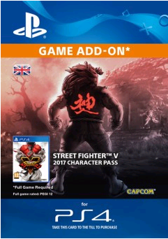 Street Fighter 5 - Character Pass Ps4