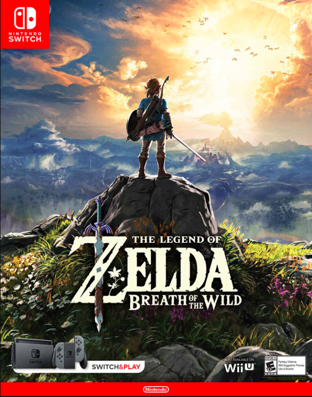 The Legend Of Zelda: Breath Of The Wild Nintendo Switch Primary License
