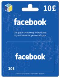 Facebook Gift Card - 10 GBP