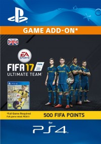 500 FIFA 17 Points PS4 PSN Code - UK account