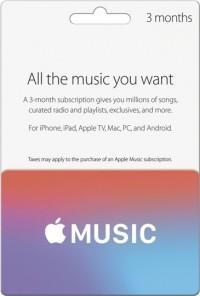 Apple Music Card - 3 Months UK