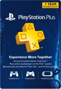 1-Year PlayStation Plus Membership - PS3/PS4/PS Vita Digital Code (USA)