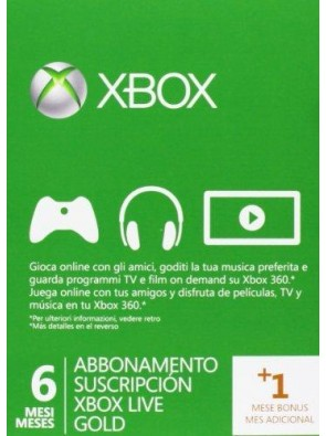 6 + 1 Month Xbox Live Gold Membership (Xbox One/360)