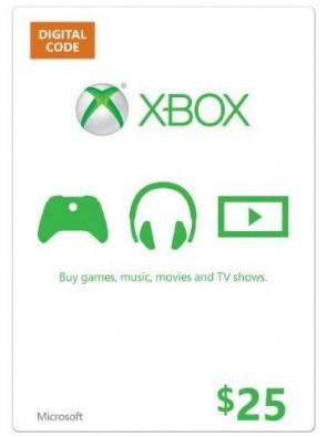 Xbox $25 Gift Card (Xbox 360)