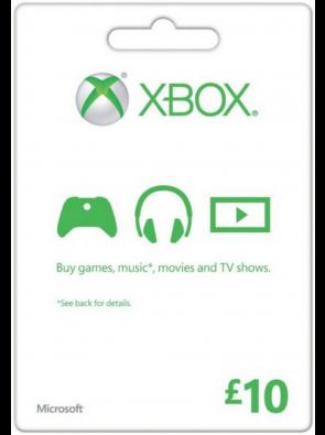 Microsoft Gift Card - £10 (Xbox One/360)
