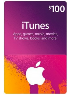 iTunes Gift Card - $100 USD