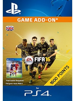 1600 FIFA 16 Points PS4 PSN Code - UK account