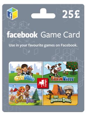 Facebook Game Card - 25 GBP