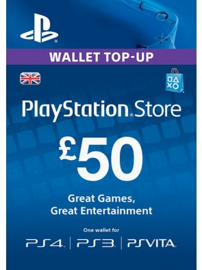 Playstation Network Card - £50 (PS Vita/PS3/PS4)