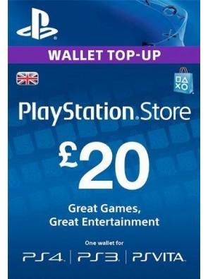 Playstation Network Card - £20 (PS Vita/PS3/PS4)