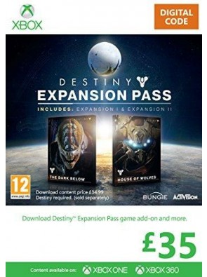 Xbox Live £35 Gift Card Destiny Expansion Pass PC