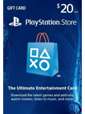 $20 PlayStation Store Gift Card - PS3 PS4 PS Vita Digital Code