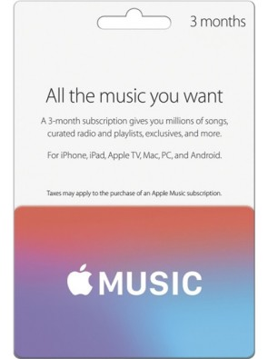 Apple Music Card - 3 Months UK