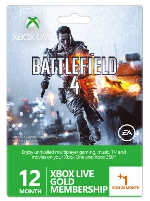 12 + 1 Month Xbox Live Gold Membership - Battlefield 4 Design (Xbox One/360)