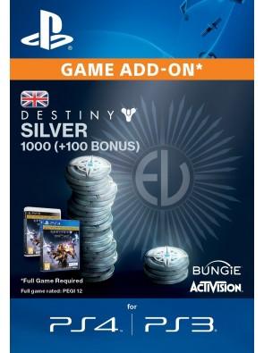 Destiny Silver 1000 (+100) PS3/PS4