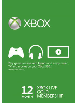 12 Month Xbox Live Gold Membership (Xbox One/360)