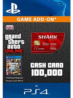 Grand Theft Auto Online (GTA V 5) Red Shark Cash Card PS4