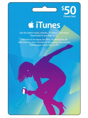 iTunes Gift Card - $50 USD