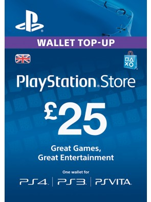 Playstation Network Card - £25 (PS Vita/PS3)
