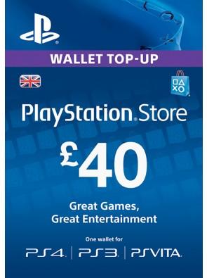 Playstation Network Card - £40 (PS Vita/PS3/PS4)