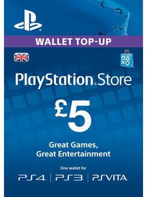 PlayStation Network Card - £5 (PS Vita/PS3/PS4)