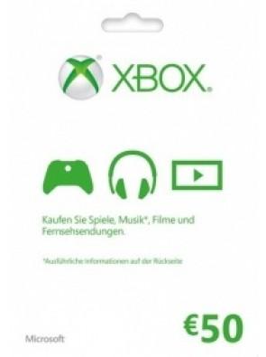 Microsoft Gift Card - 50 Euro (Xbox One/360)